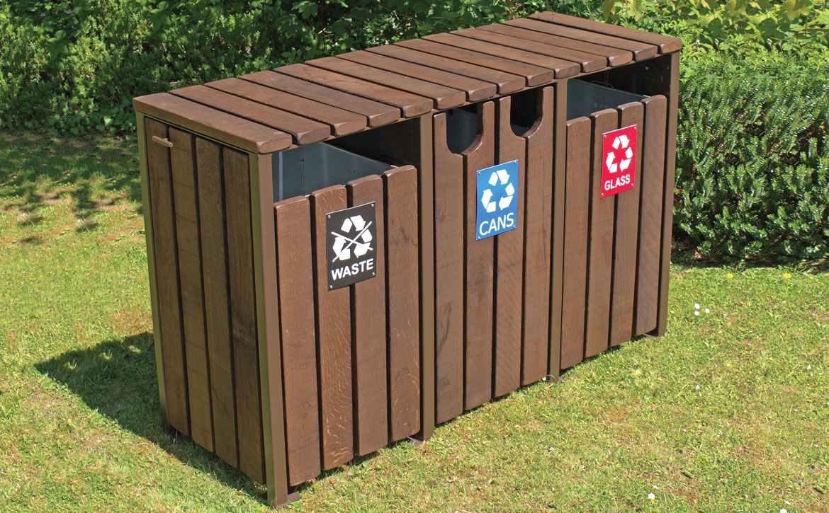 Holyhead Recycling Unit with lids