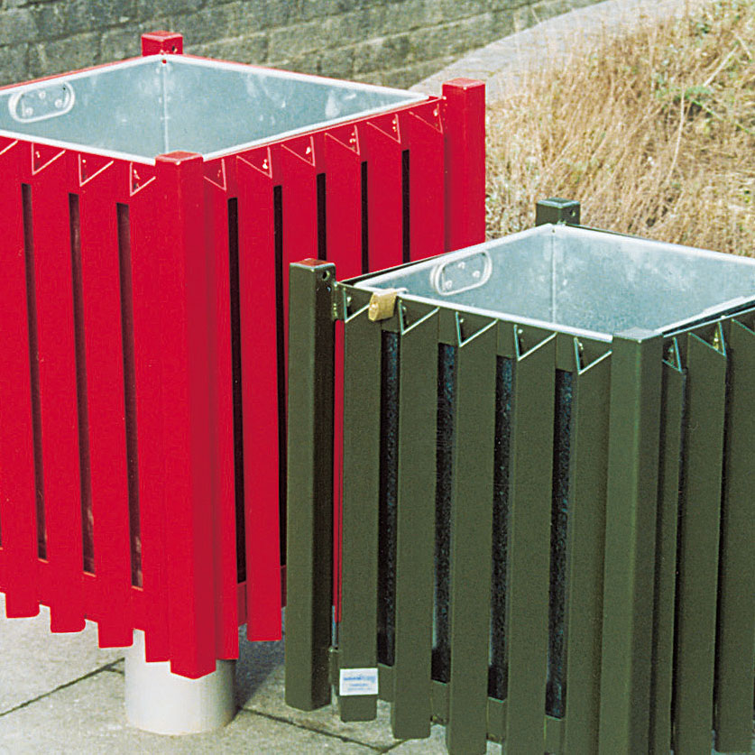Cardiff and Brecon Bins, single post mounting