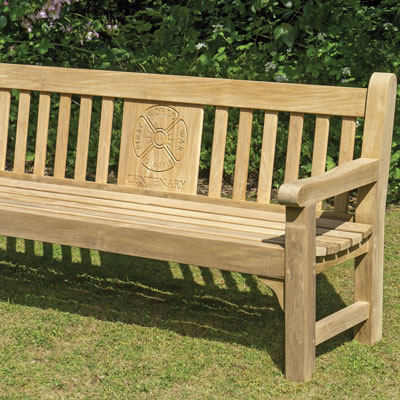 1800 Cavendish Seat in Iroko with back panel