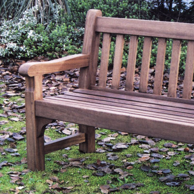 1800 Cavendish Seat in iroko (stained)