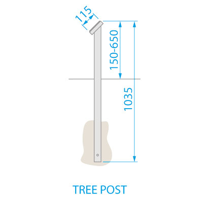 Commemorative Tree Post Dimensions
