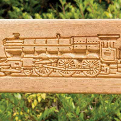 Carved train