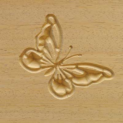 Carved Butterfly Logo