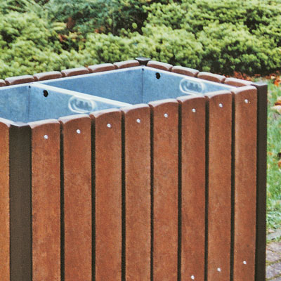 Portsmouth Bin with brown slats