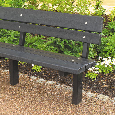 Tenby Seat with Black boards