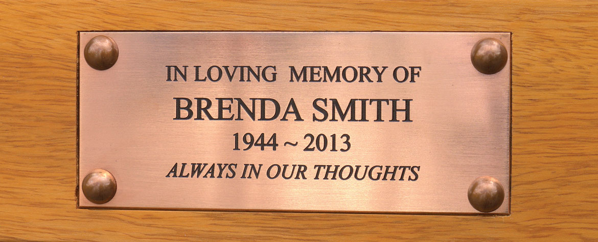 Engraved Bronze Plaques